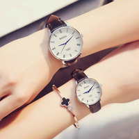 2017 New Women Watches Leather Band Men Quartz Wristwatch Fashion Classical Casual Lover Watch Waterproof Christmas presen