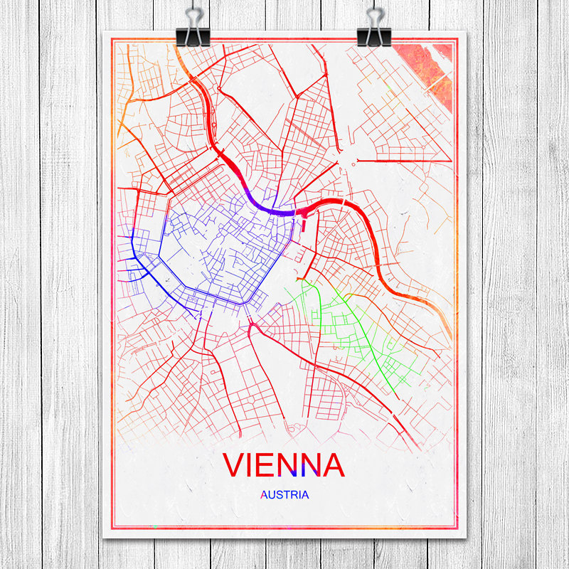 Buy vienna austria map and get free shipping on aliexpress gumiabroncs Choice Image