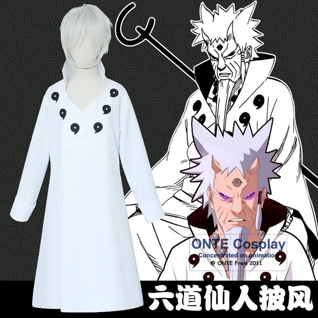 Naruto Rikudo Sennin Cloaks Ootutuki Hagoromo Cosplay Costumes Long Sleeve Capes Outfit for Fancy Party