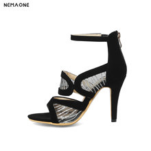 NEMAONE New women sandals thin high heels shoes woman summer style party shoes