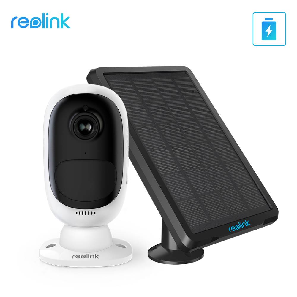 Reolink Full HD 1080P Wire free Battery Camera Argus 2 with Solar Panel Continuous Power Charging