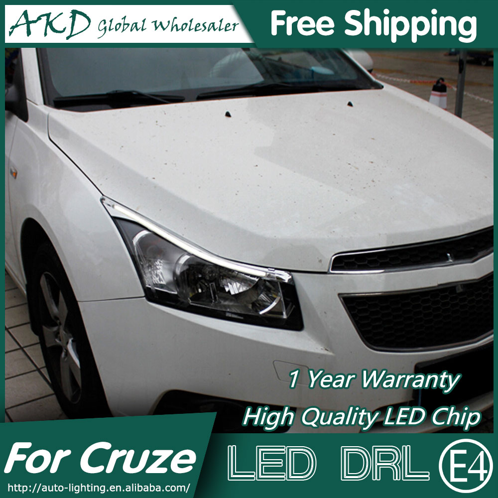 AKD Car Styling LED DRL for Chevrolet Cruze 2009-2015 New Cruze Eye Brow Light LED External Lamp Signal Parking Accessories