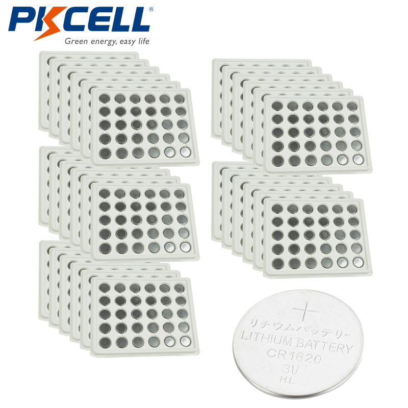 1000Pcs lot PKCELL CR1620 DL1620 5009LC CR 1620 208 208 L08 3V Lithium Button Coin Cell