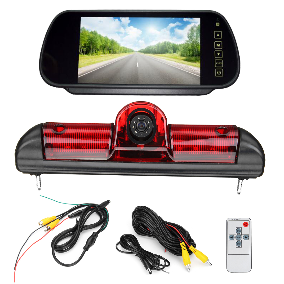 LED IR Brake Light Rear View Reversing Parking Camera 7 Inch Monitor Kit for Fiat Ducato For Citroen Relay for Peugeot Boxer new camera rear view reverse backup ccd camera for fiat ducato x250 citroen jumper iii peugeot boxer iii led ir parking camera page 5 page 10