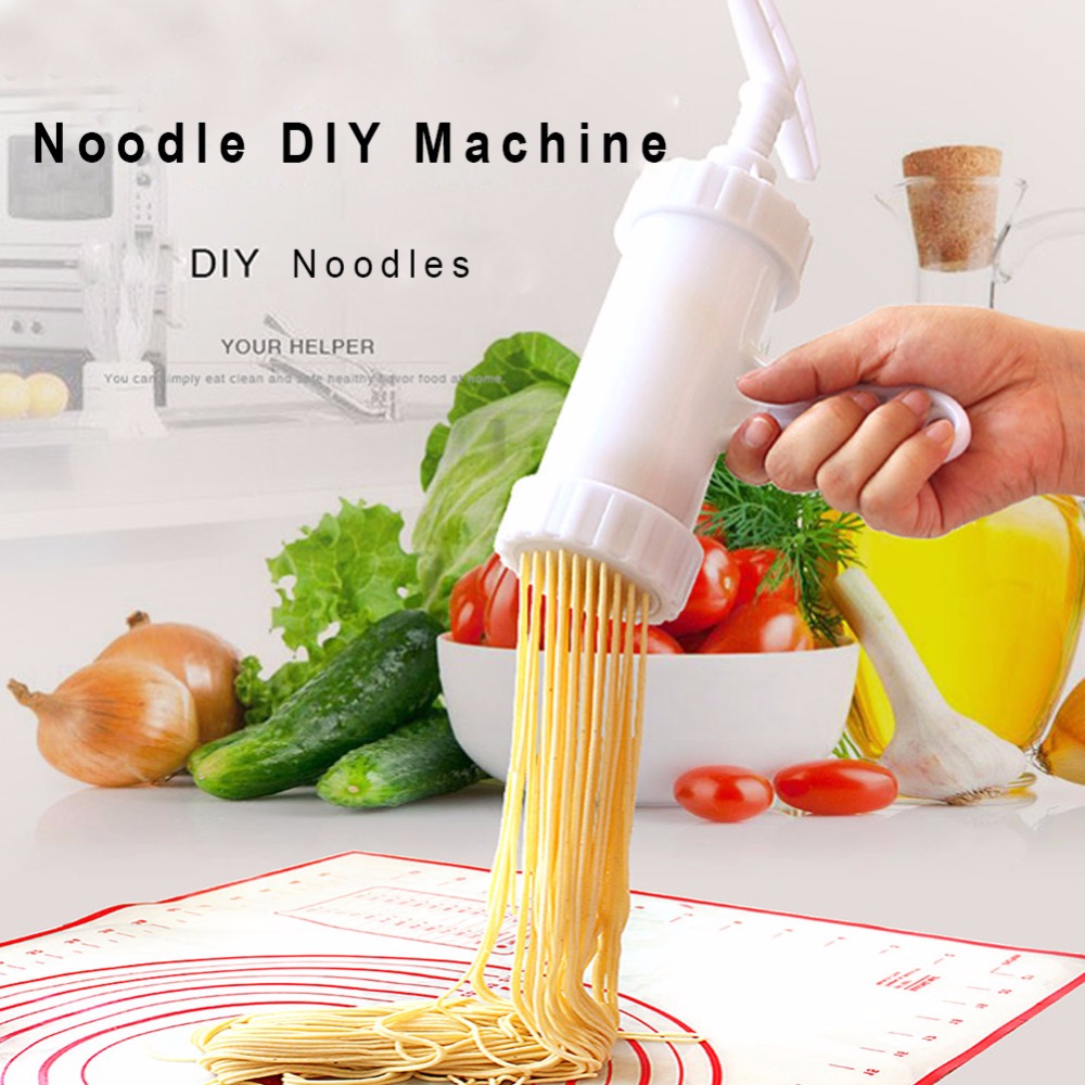 7 Mould Pasta Noodle Maker Machine Cutter For Fresh Spaghetti Kitchen Pastry Noddle Making Cooking Tools Kitchenware Noodle DIY image