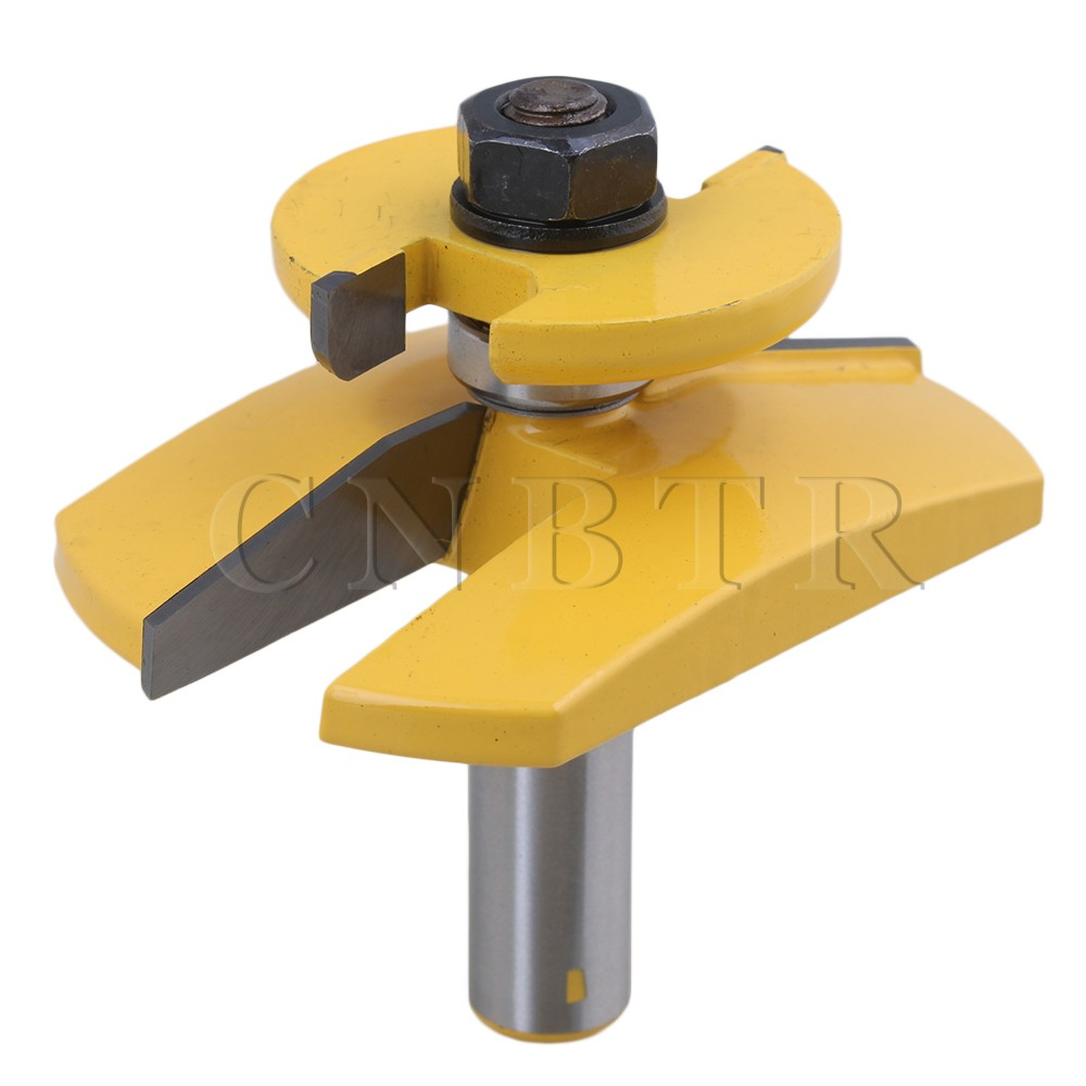 CNBTR Cemented Carbide Bevel Raised Panel Router Bit 3-1/8 Blade Dia 1/2 Shank Cutter for Woodworking high grade carbide alloy 1 2 shank 2 1 4 dia bottom cleaning router bit woodworking milling cutter for mdf wood 55mm mayitr
