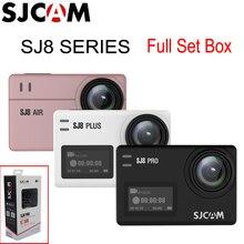 SJCAM SJ8 프로 4K 60FPS 와이파이 원격 울트라 HD 익스트림 스포츠 액션 카메라 전체 액세서리 세트 박스 라이브 스트리밍 DV 캠코더