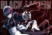 Black Lagoon cool girl gun anime 4 Size Home Decoration Canvas Poster Print