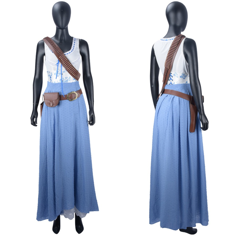 Westworld 2 Costume Dolores Abernathy Cosplay Costume Dress Gown Halloween Carnival Dolores Abernathy Costume Women girl cosplay