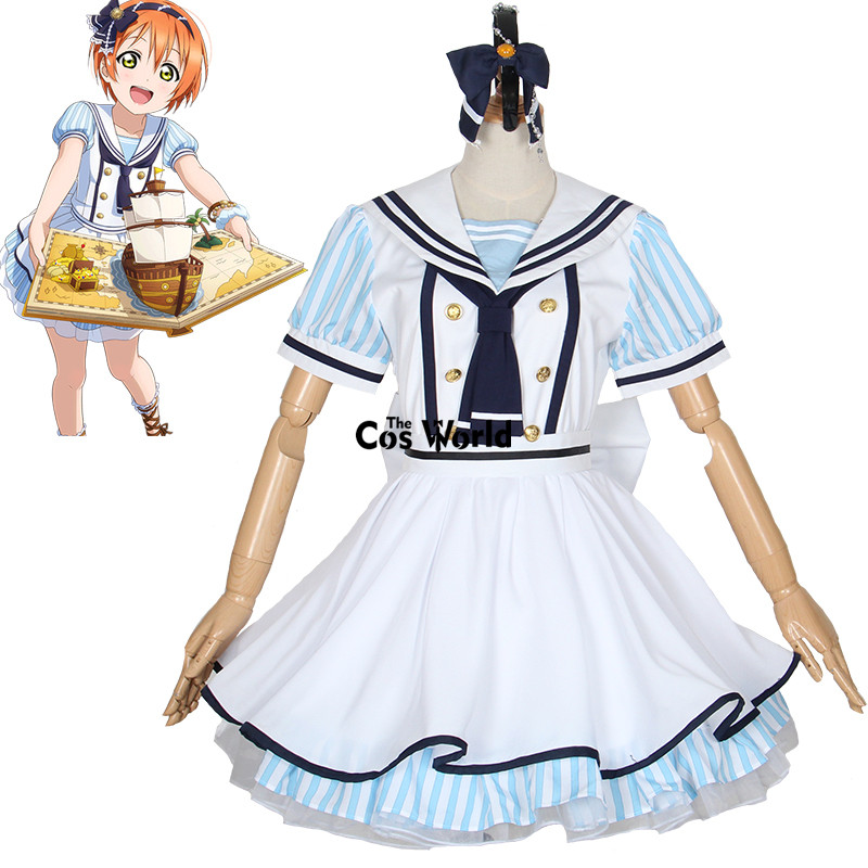 Здесь продается  Love Live School Idol Project Hoshizora Rin Sea Piracy Pirates Sailor Suit Dress School Uniform Outfit Anime Cosplay Costumes  Одежда и аксессуары