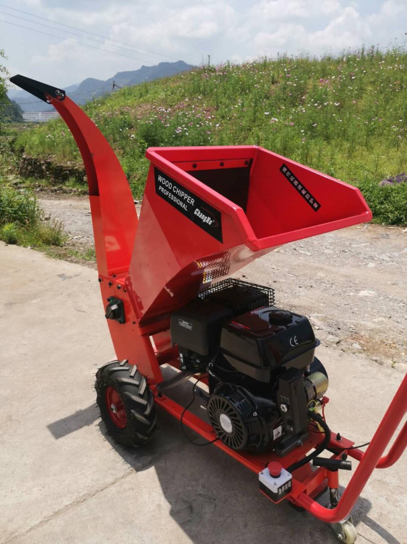 CXC-701 Gasoline Engine Branch Shredder, Manual Wood Chipper Shredder