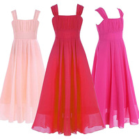 Elegant Girls Dress For Weddings Long Tulle Evening Party Dresses Teenage Kids Frock Designs Prom Gown
