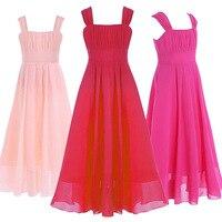 Elegante Vestido de Las Muchachas Para Las Bodas de Noche Largo de Tul Vestidos de Fiesta adolescente niños diseños de vestido de Baile Vestido De 8 10 12 14 16 18 Años