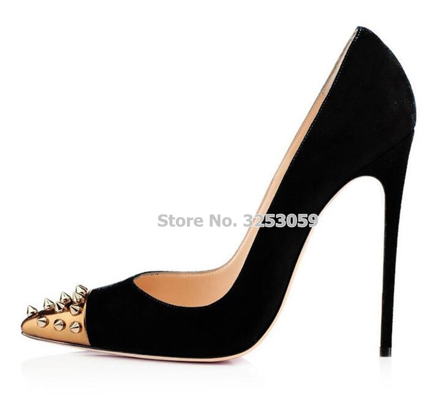 as Stiletto Heel Almudena Noir Spike Picture 12cm Couleur Steel Dropship De Mixte Rivets Toe 12 coffee Heel Gloden Chaussures Green Heel Suede Cm Black Talons Heel Mariage Tip Or Heel red army Rouge gg4qxrP