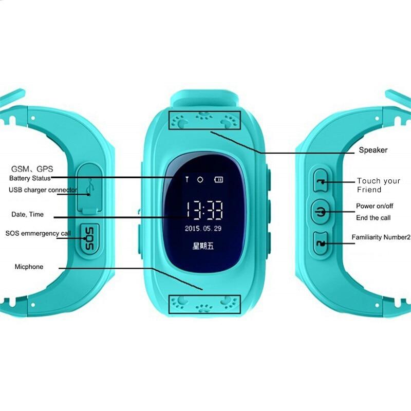 imágenes para Nueva moda caliente q50 smart watch niños kid reloj gsm gprs gps posicionamiento anti-perdida niños relojes para ios android q60