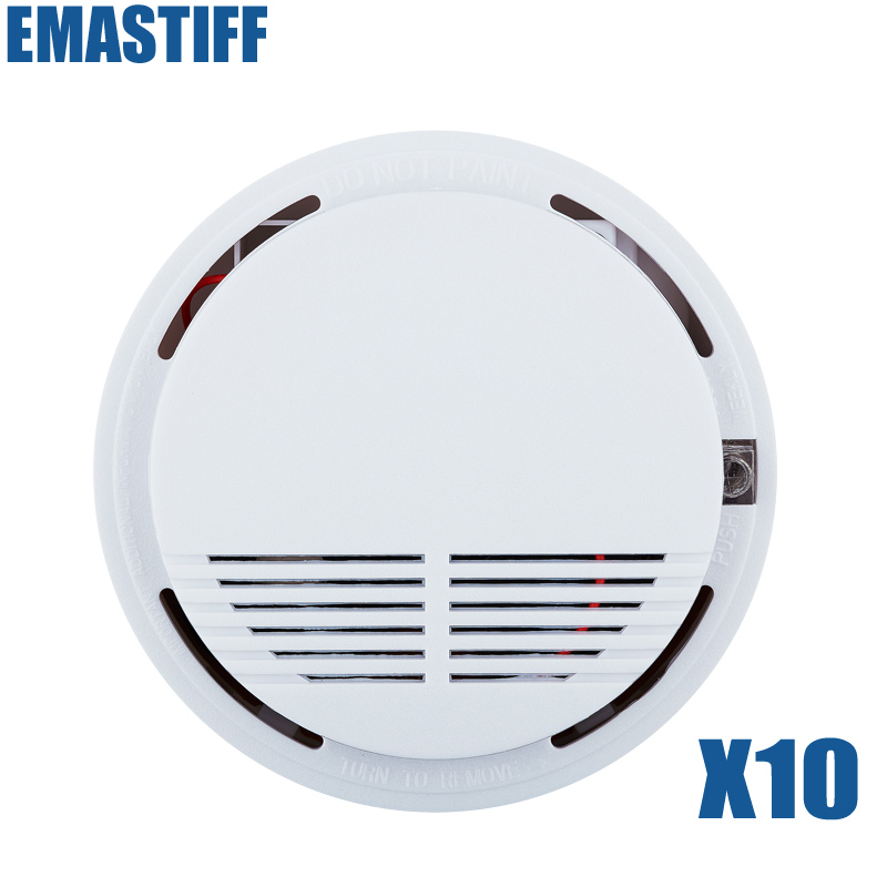 Hot Selling Wireless Smoke Detector Fire Alarm Sensor for Indoor Home Safety Garden Security 10pcs wireless smoke fire detector for wireless for touch keypad panel wifi gsm home security burglar voice alarm system