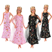 New 2 Pieces Evening Dress Party Wedding For Barbie Clothes Our Generation Doll Fashion Outfits 1/6 Accessories For Making Doll new arrvial doll s quality evening fishtail princess wedding eveningl dress for barbie doll