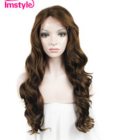 Imstyle Wave Synthetic Golden Brown 24 Inches Lace Front Wig
