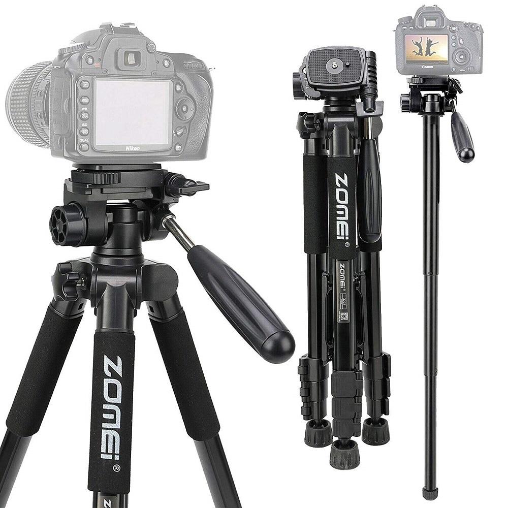 ZOMEI Q222 Camera Tripod Tripode Flexible Photographic Tripod Monopod Travel Stand for Smartphone Camera DSLR Projector|Live Tripods| - AliExpress