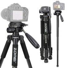 ZOMEI Q222 Camera Tripod Tripode Flexible Photographic Tripod Monopod Travel Stand for Smartphone Camera DSLR Projector