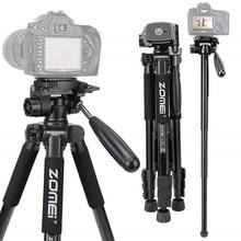 ZOMEI Q222 מצלמה חצובה Tripode גמיש צילום חצובה חדרגל נסיעות Stand עבור Smartphone מצלמה DSLR מקרן