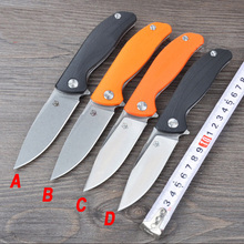 G&P Brand Tactical camping knife blade G10 handle D2 ball bearings F3 Flip survival knife outdoor tools folding knife EDC