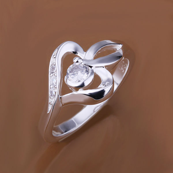 Free Shipping! R153 silver color sunflower shap alloy crystal ring,Fashion party Ring FOR girls,Factory Price