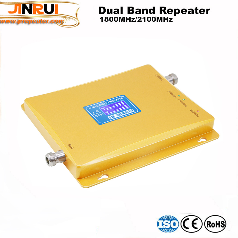 High Quality! LCD Dispilay Gsm Repeater Dual Band 2G 3G 4G 1800/2100mhz Smart 2g 3g 4g Mobile Signal Booster Repeater Amplifier