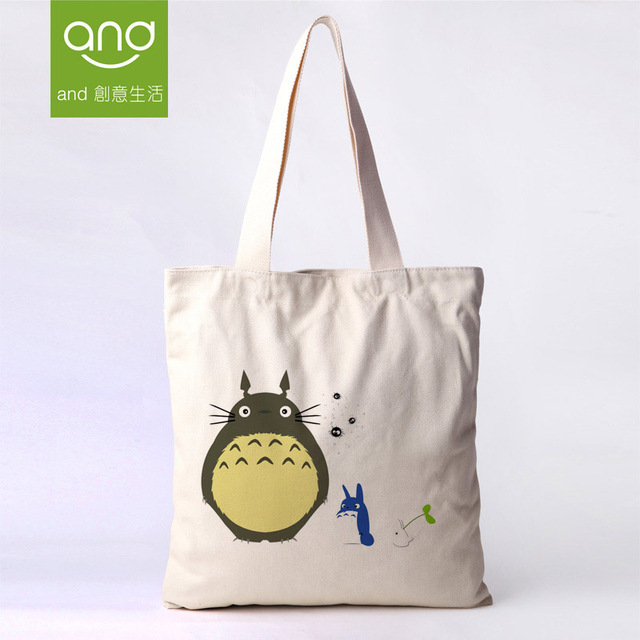 Aliexpress.com : Buy Totoro Tote Bag Canvas Cotton Bags Lunch On ...
