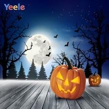 Yeele Halloween Pumpkin Lantern Wood Moon Bat Star Photography Backdrops Personalized Photographic Backgrounds For Photo Studio