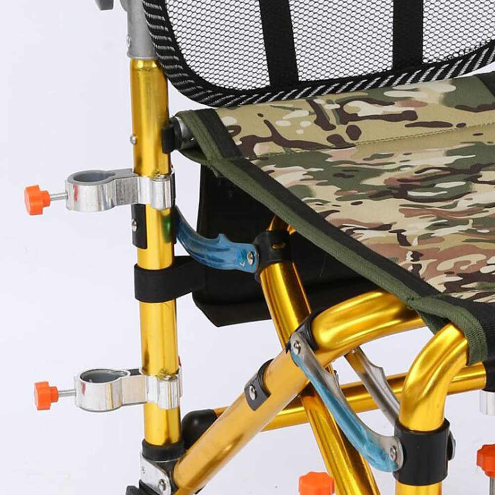 Braçadeira Da Liga de alumínio Clipe Suportes de Ferramentas Dobrável Cadeira De Pesca Ao Ar Livre Montar Acessórios Fixo Stand Guarda-chuva Fácil de Instalar