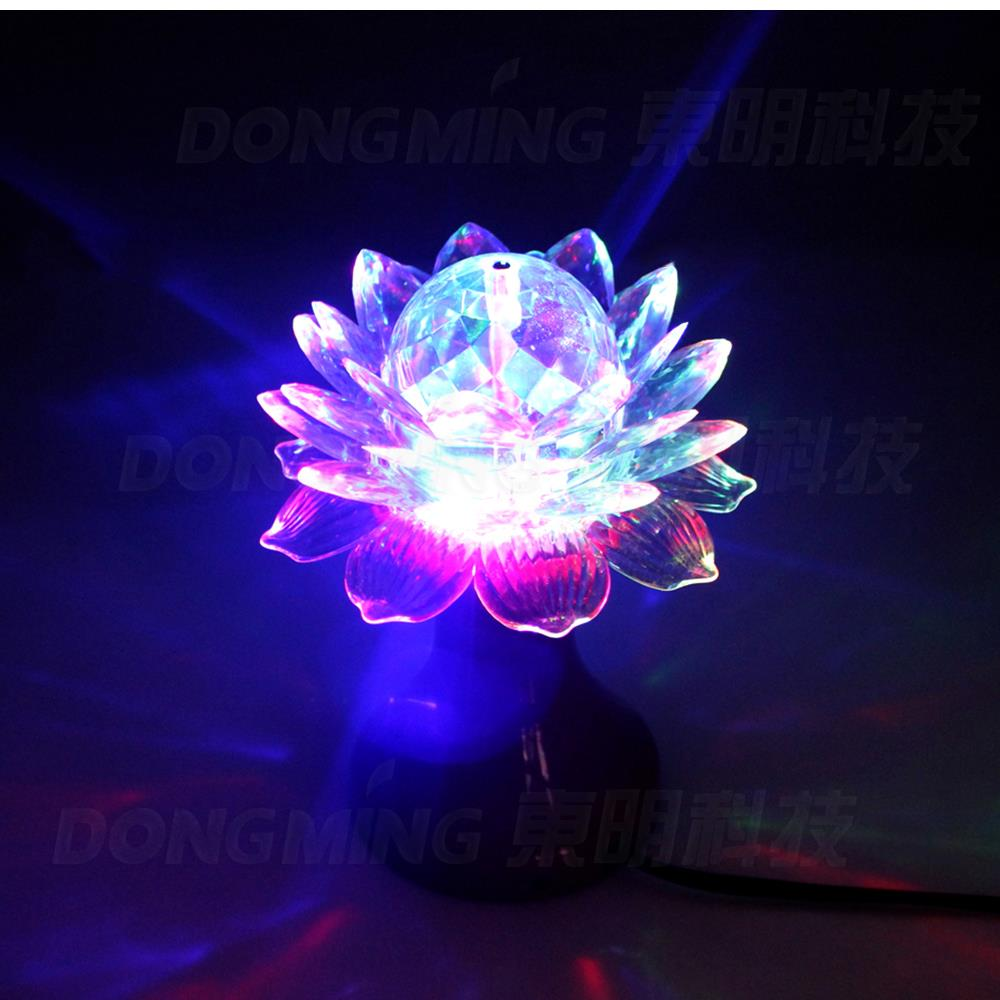 3W LED B22 E27/E26 base RGB Crystal stage Light LED flower Bulb Christmas Rotate for Party show Disco Bar home dance Decoration