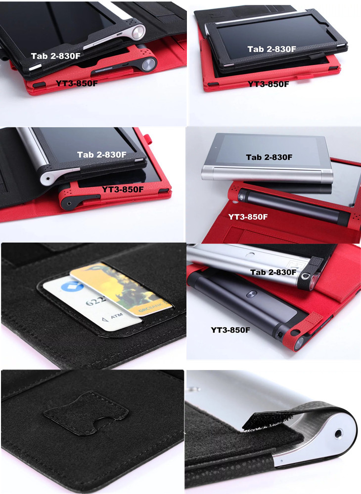YNMIWEI For Yoga Tab2 830F 830L Tablet Case 8 0 inch Wallet Hand Strap  Cover For Lenovo Yoga Tab 3 850F 850M Tablet Leather Case