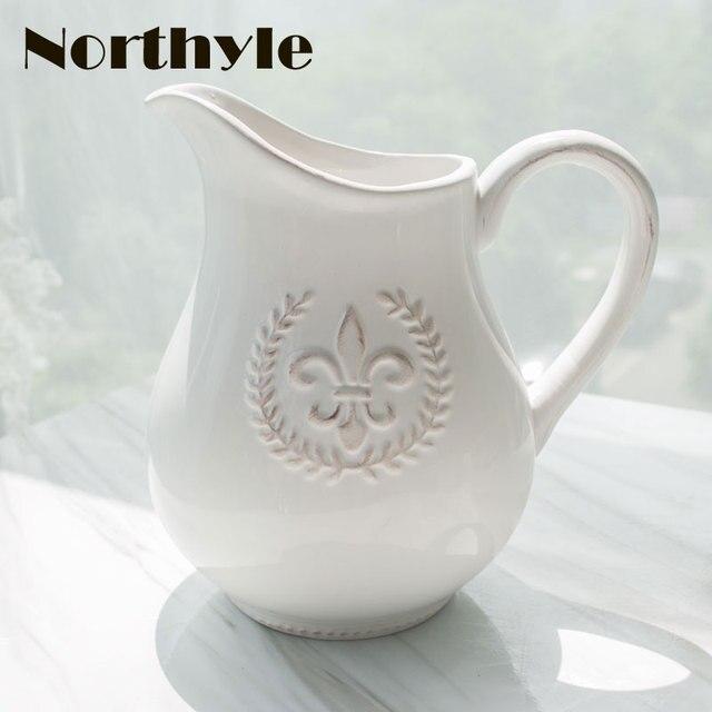 Europe Wheat Theme White Ceramic Vase Decoration Home Porcelain