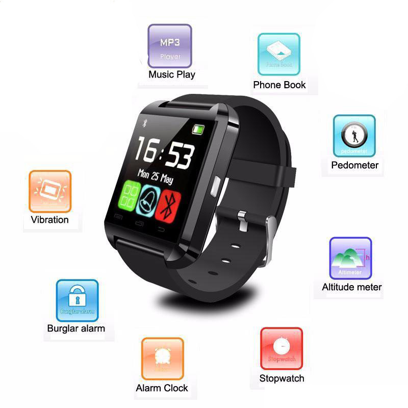Bluetooth Smart Watch U8 For Huawei Honor P9lite P8 p9 for Samsung Galaxy S7 Edge note7 Android phones SmartWatch for LG G4 G5