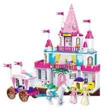 Elsa Anna Girl Building Blocks Cinderella Toys For Children Castle Figure Compatible All Princess Bricks Toy