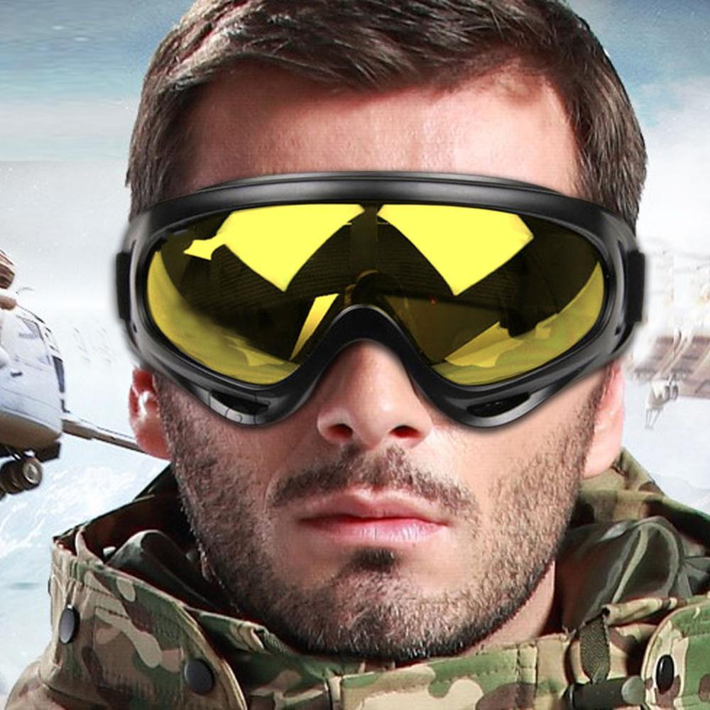 Защитные очки для мотоциклистов, ветрозащитные, пыленепроницаемые, для катания на лыжах, сноуборде, для мотокросса