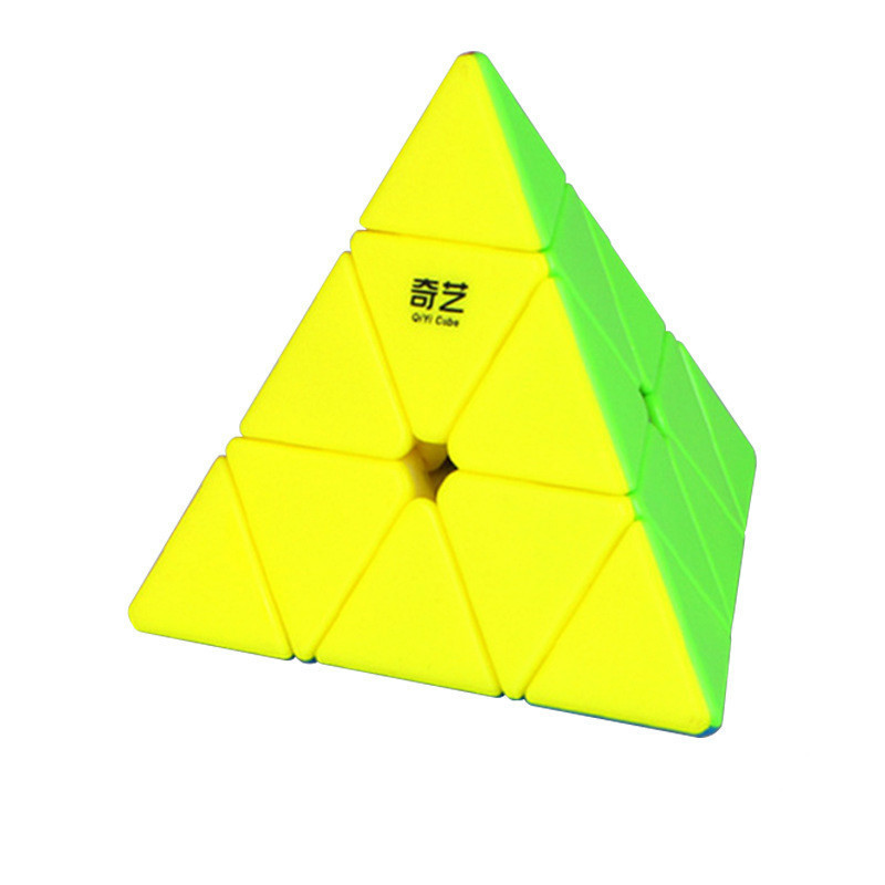 Qi Yi Triangle Pyramid 3*3*3 Pyramid Magic Cube 95*95*95mm Puzzle Early Learning Educational Toys For Children Gift