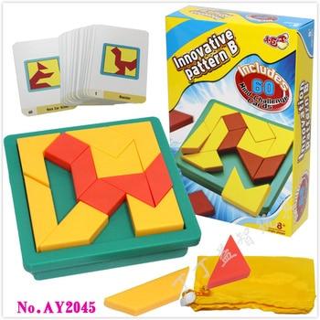 Di trasporto del nuovo Creativo Tangram Puzzle Rompicapo Per Bambini Giocattoli Educativi Del Gioco per I Bambini