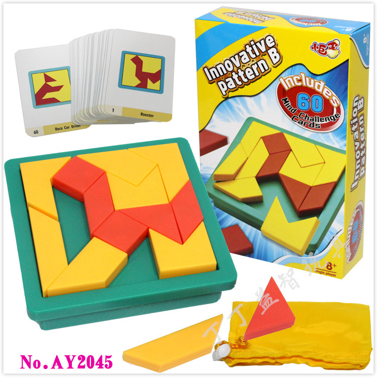 New Creative IQ Tangram <font><b>Puzzle</b></font> Brain Teaser Kids Educational Game Toys for Children