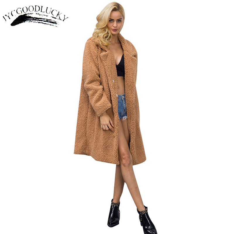 Long Faux Fur Coat 2017 Warm Winter Faux Women Sheepskin Coat ...
