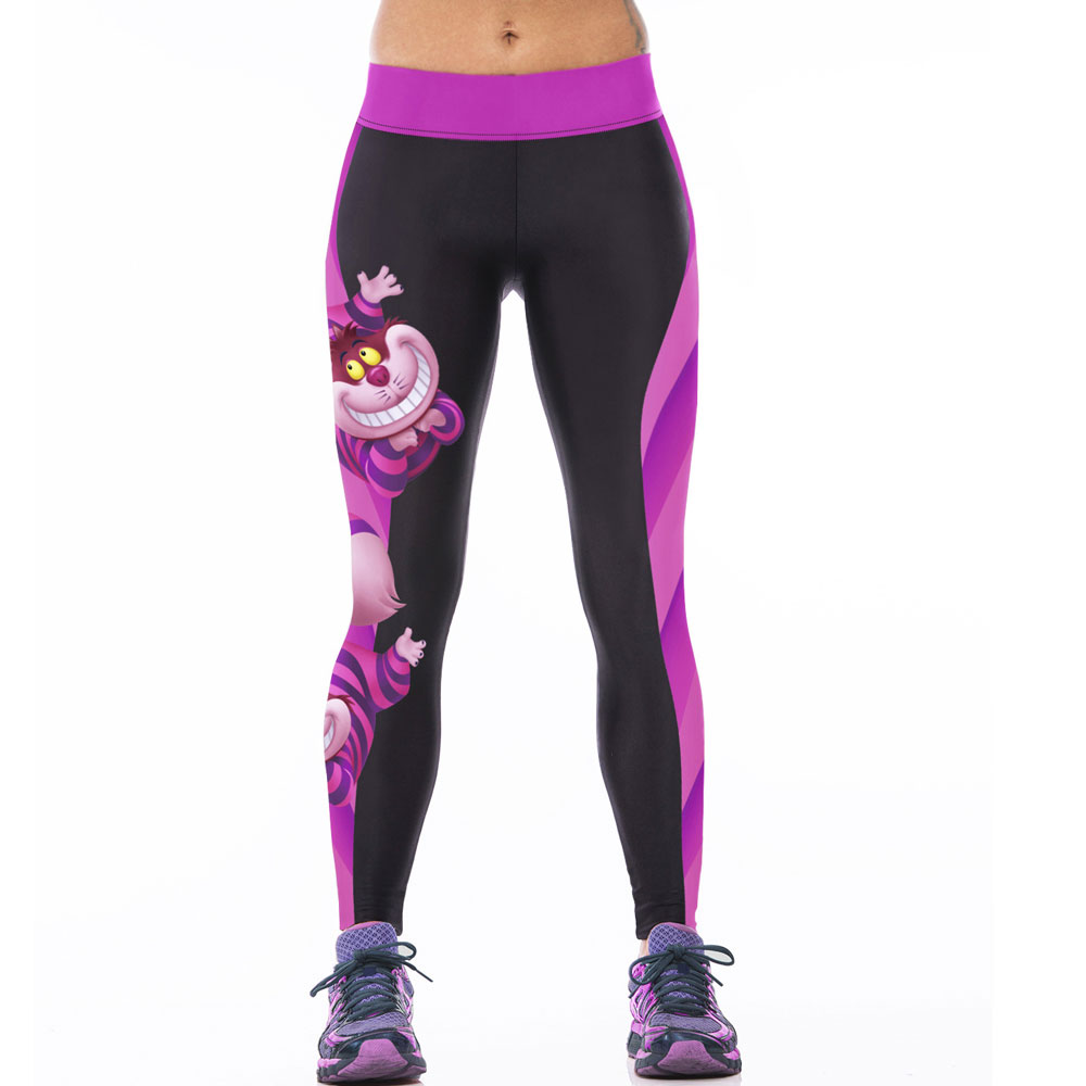 buy harajuku pants women 3d cheshire cat print workout leggins patchwork. Black Bedroom Furniture Sets. Home Design Ideas