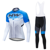Cycling Jersey Set NW Northwave Pro Team 2019 Long Sleeve Clothes Outdoor Men's Suit Pants Sportful Bicycle MTB Clothing Paded