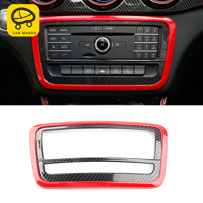 CarManGo for Mercedes benz A class GLA CLA w176 auto carbon fiber central control CD frame