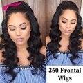360 Кружева Фронтальная Glueless Парики Шнурка С Волосами Младенца может быть хвост 360 Полные Парики Шнурка Индийские Человека Реми Волос Объемной Волны парики