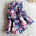 DW0104 Girl Coat Frozen Winter 2017 Baby Girl Long Sleeve Flower Jacket Children Thick Warm Kids Christmas Jackets For Girls
