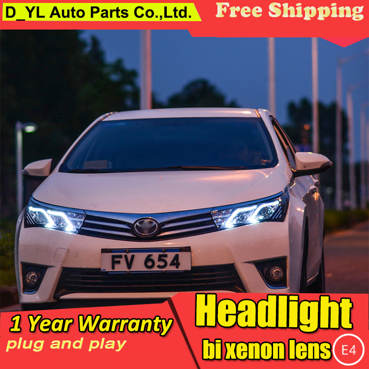 Car Styling Headlights for Corolla 2014-2016 LED Headlight for Corolla Head Lamp LED Daytime <font><b>Running</b></font> <font><b>Light</b></font> LED DRL Bi-Xenon HID image
