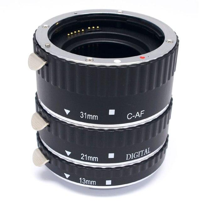 Майке Металл Автофокус AF Макрос Удлинитель для Canon EOS 6D 5D Mark II III 7D 60D 70D 600D 650D 700D T5i T4i