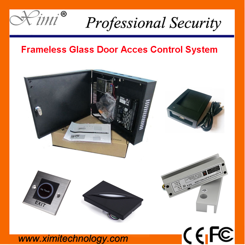 Frameless Glass Door Access Control System One Door Access Control Panel With Electric Bolt Lock And WG Card Reader