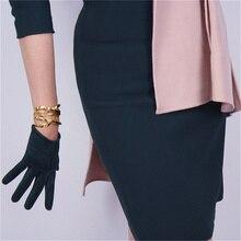 Fashion Suede Gloves 16cm Short Simulation Leather Sanding Skin Matte Dark Green Women JPSL16